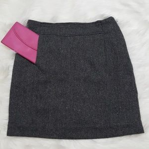 Banana Repblic Wool Blend Twill Design Mini Skirt